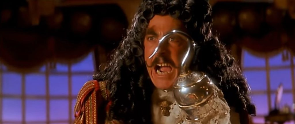 Dustin Hoffman als Captain Hook aus Hook