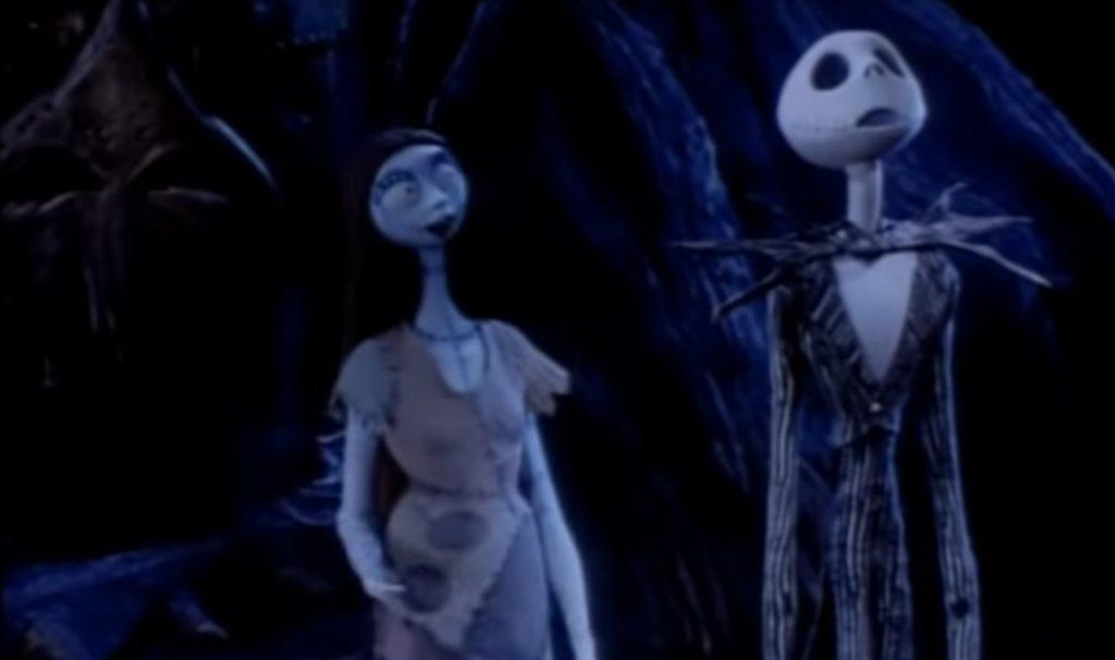Sally und Jack aus Nightmare before Christmas