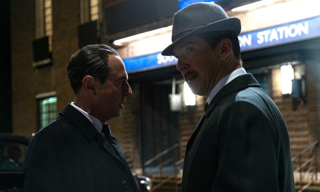 Benedict Cumberbatch und Merab Ninidze aus The Courier