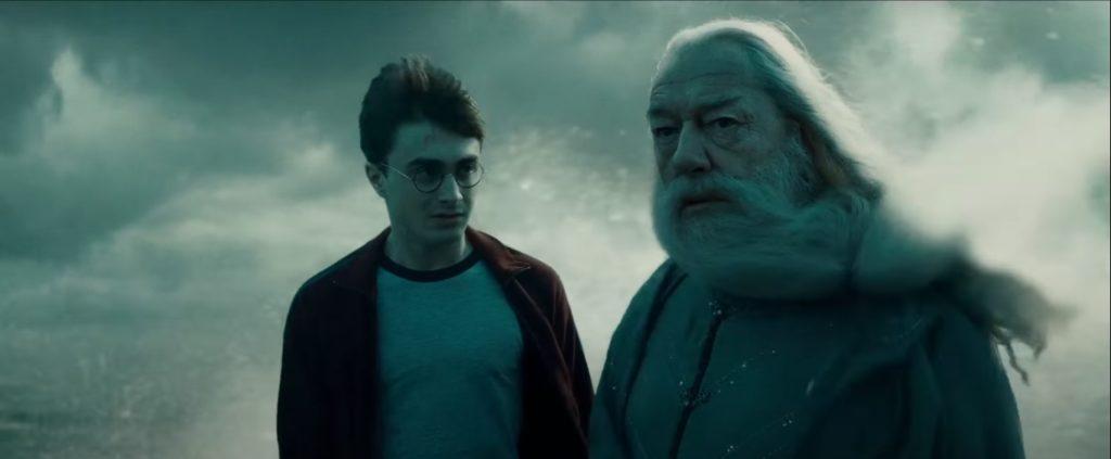 Harry und Dumbledore aus Harry Potter