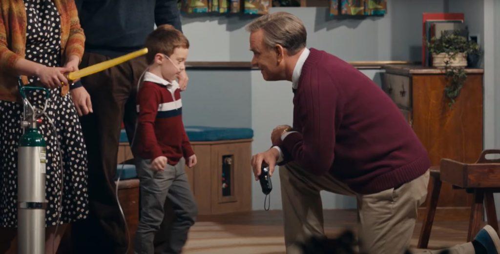 Tom Hanks aus Der wunderbare Mr. Rogers