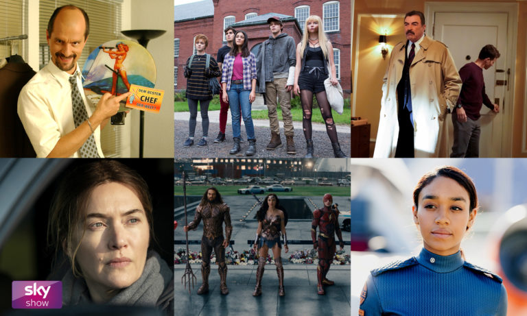 Gal Gadot Jason Momoa Kate Winslet Tom Selleck in Sky Show Mai 2021